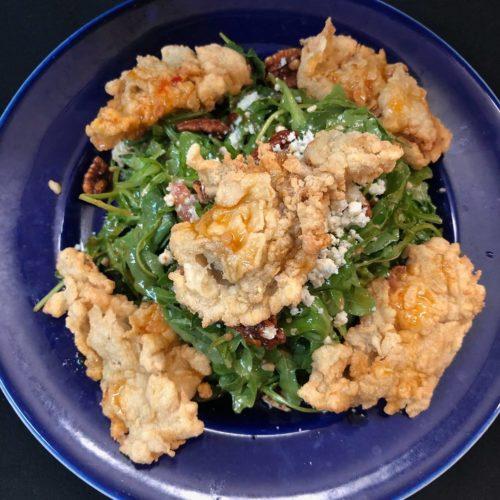 Crispy oyster salad